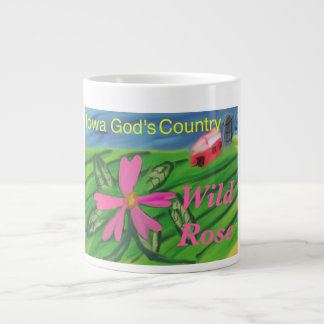 Iowa State Flower Wild Rose Christian Coffee Mug