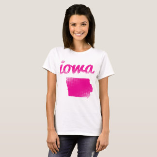 Iowa state in pink T-Shirt