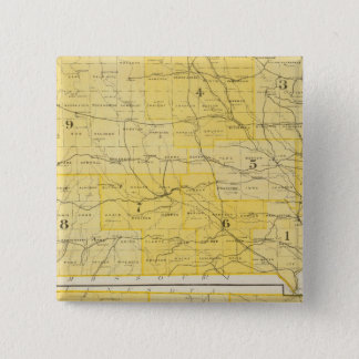 Iowa State Maps 15 Cm Square Badge