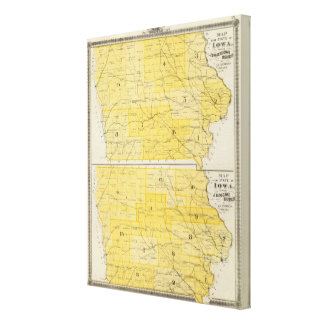 Iowa State Maps Canvas Print