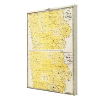 Iowa State Maps Canvas Print