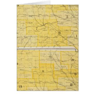 Iowa State Maps Card