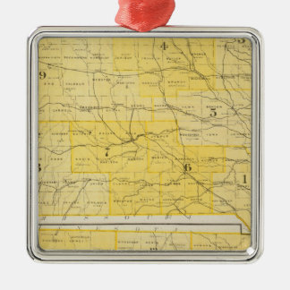 Iowa State Maps Christmas Ornament