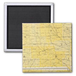 Iowa State Maps Magnet