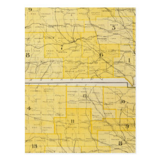 Iowa State Maps Postcard