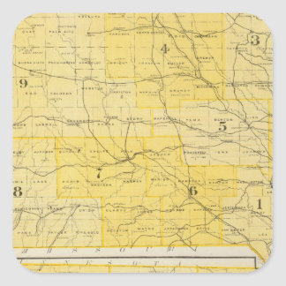 Iowa State Maps Square Sticker