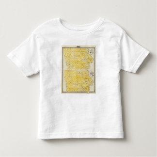 Iowa State Maps Toddler T-Shirt