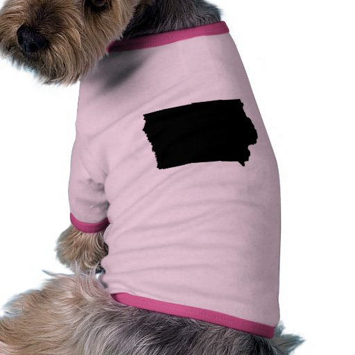 Iowa State Outline Dog Tshirt