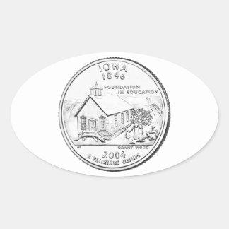 Iowa State Quarter Oval Sticker