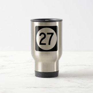 Iowa State Route 27 Stainless Steel Travel Mug