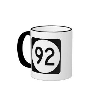 Iowa State Route 92 Ringer Mug