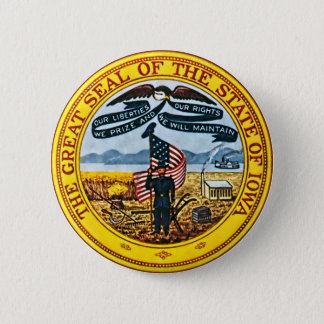 Iowa State Seal 6 Cm Round Badge