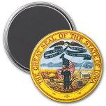 Iowa State Seal 7.5 Cm Round Magnet