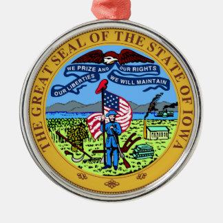 Iowa state seal america republic symbol flag christmas ornament