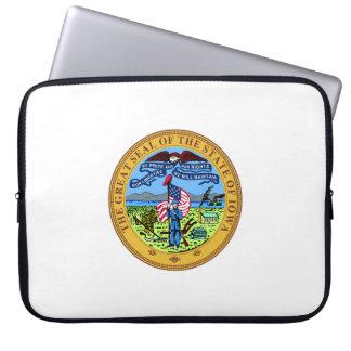 Iowa state seal america republic symbol flag laptop sleeves