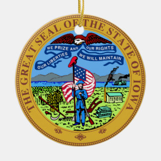 Iowa State Seal Christmas Ornament