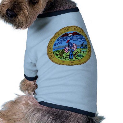 Iowa State Seal Dog Tee Shirt
