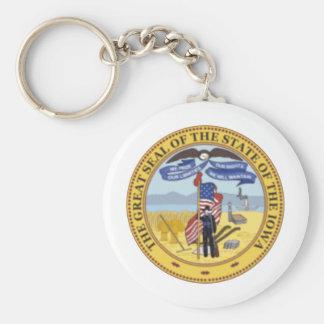 Iowa State Seal Key Ring