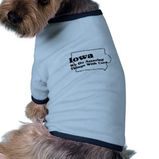 Iowa State Slogan Dog Tshirt