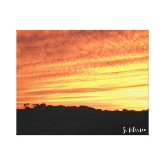 Iowa Sunset Canvas Print