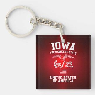 Iowa The Hawkeye State Key Ring