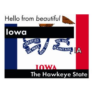 Iowa The Hawkeye State Postcard