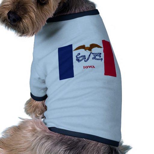 Iowa, United States flag Dog T Shirt