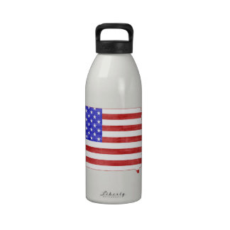 Iowa USA silhouette state map Drinking Bottles