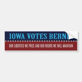 Iowa Votes Sanders Stickers With Iowa Seal Bumper Sticker