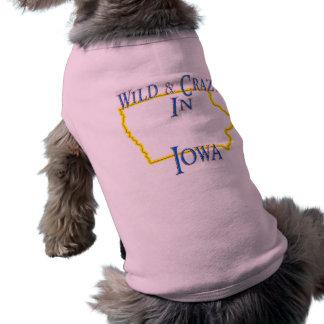 Iowa - Wild and Crazy Sleeveless Dog Shirt