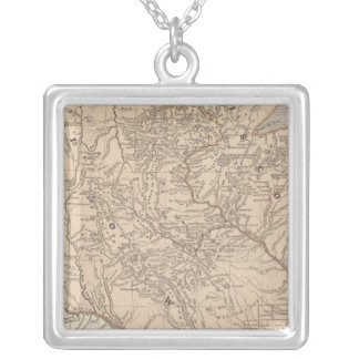 Iowa, Wisconsin Silver Plated Necklace