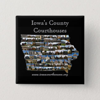 iowacountiesblack, Iowa's County Courthouses, w... 15 Cm Square Badge