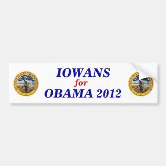Iowans for Obama 2012 sticker Bumper Sticker