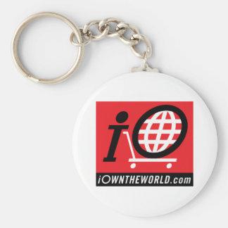 iOwnTheWorld.com Logo Basic Round Button Key Ring