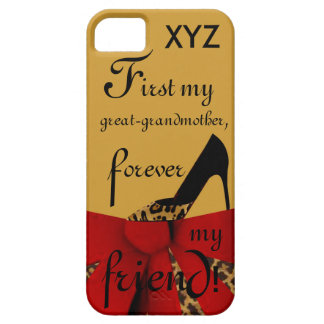 iP5Tread -Great-grandmother Customize w/Initials Case For The iPhone 5