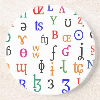 IPA characters Coaster
