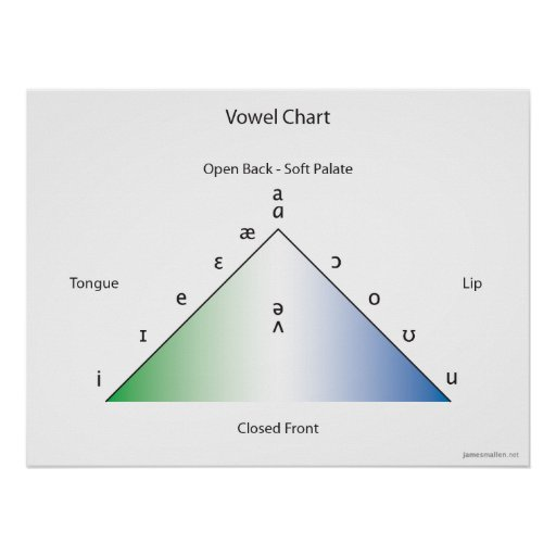 IPA vowel chart Posters