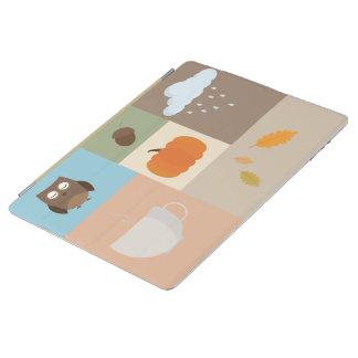 iPad 2/3/4 Cover with autumn design iPad Cover