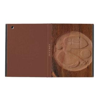 iPad 2/3/4 Folio Case, Angel in the Rocks, Brown Case For iPad