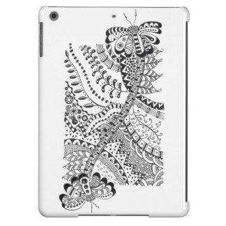 iPad Air case with doodle art