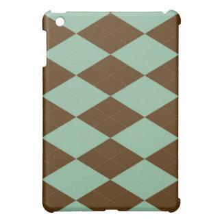 iPad Case - Argyle - Mint Chocolate