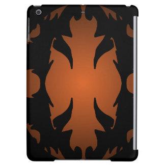 iPad Case Black Orange Ornate Flourish Gifts