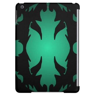 iPad Case Black Teal Ornate Flourish Gifts