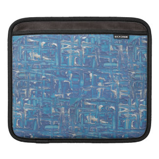 Ipad Case - Blue Abstract Painting By Erika Sleeve For iPads