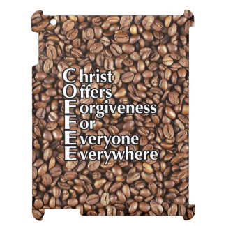 iPad Case COFFEE beans Christ Offers Forgiveness