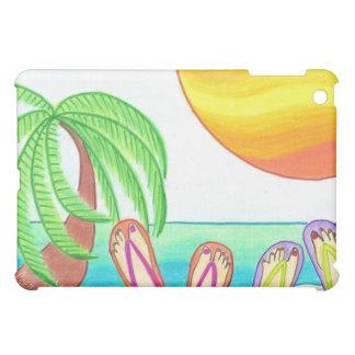 iPad case-flip flops on beach iPad Mini Cover