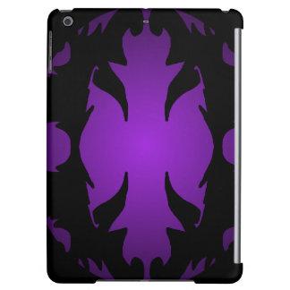 iPad Case Flourish Purple Black Ornate Gifts
