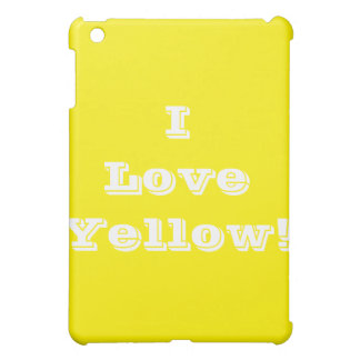 Ipad Case I Love Yellow