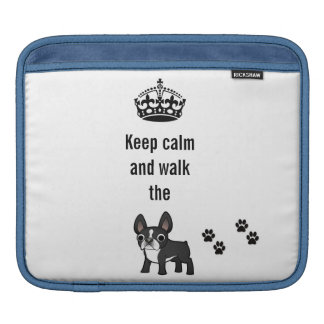 iPad case Keep calm and walk the french bulldog