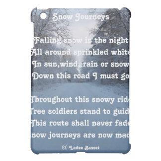 Ipad Case Poem Snow Journey By Ladee Basset